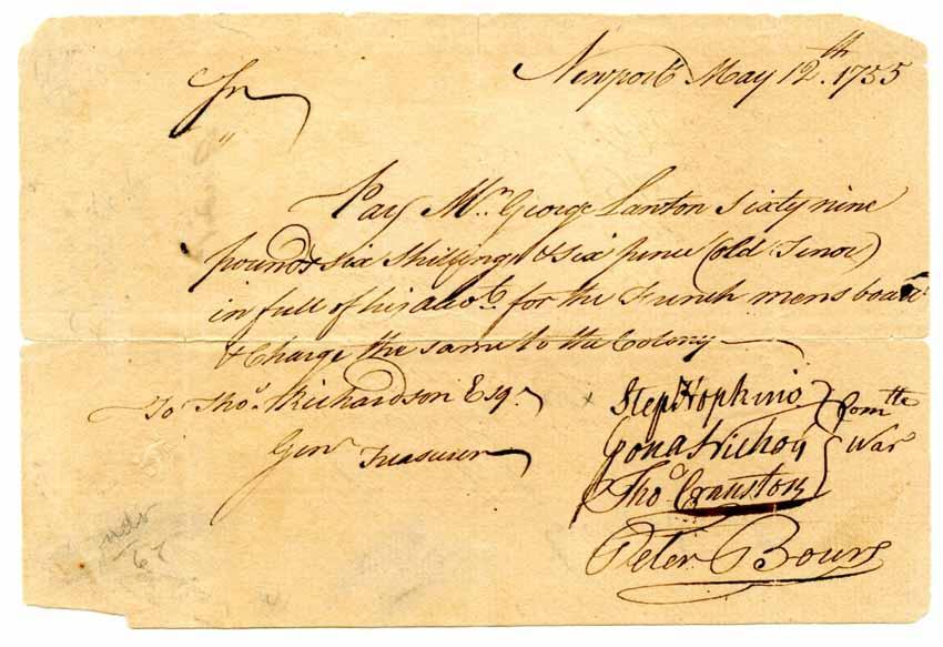 HOPKINS, STEPHEN (1707-85)