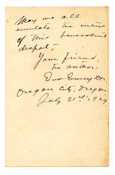 DYE, EVA EMERY (1855-1947)