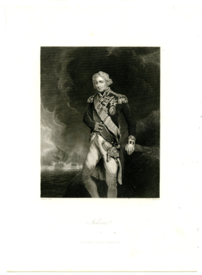 NELSON, HORATIO (1758-1805)  British Navy Officer; Killed-in-Action at the Battle of Trafalgar - October 21, 1805