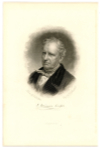 "COOPER, JAMES FENIMORE (1789-1851)  American Author; Wrote ""The Last of the Mohicans"" & ""The Deerslayer"""