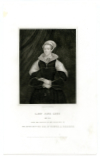 GREY, LADY JANE (1536-54)  English Noblewoman; de facto Queen of England & Ireland, July 10-19, 1553; Executed on February 12, 1554