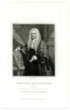 YORKE, PHILIP, EARL OF HARDWICKE (1690-1764)  English Nobleman, Lawyer, and Politician