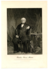 ADAMS, CHARLES FRANCIS (1807-86)  American Author & Diplomat; U.S. Representative – Massachusetts – 1859-61; Appointed U.S. Minister to England by President Lincoln – 1861-68; Son of President John Quincy Adams; Grandson of President John Adams