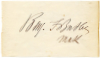 BUTLER, BENJAMIN F. (1818-93)  Union Major General – Massachusetts; U.S. Congressman – Massachusetts – 1867-75 & 1877-79; Governor of Massachusetts – 1883-84; U.S. Presidential Candidate – Greenback Party - 1884