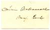 McDOWELL, IRVIN (1818-85)  Union Major General - Ohio